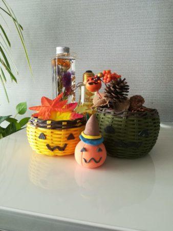 ハロウィンかぼちゃカゴ