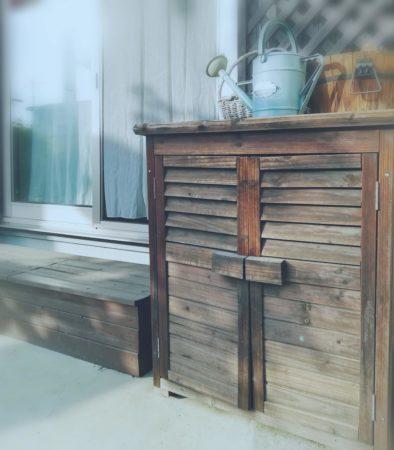 物置とベンチ収納