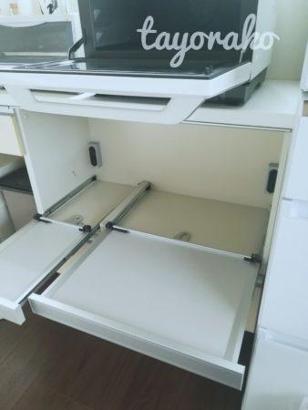 キッチンカウンターを掃除