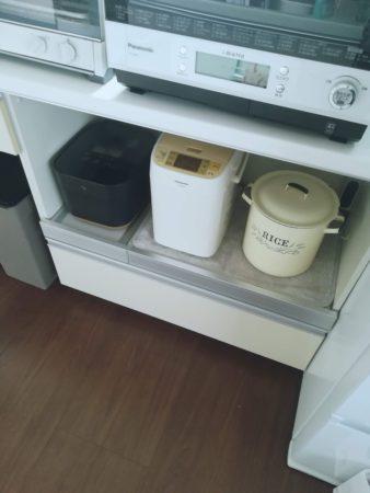 炊飯器を置いてみる