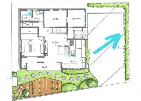 駐車場横のスペース図