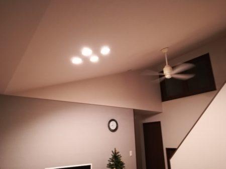 リビング照明ダウンライト
